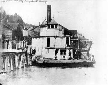 Steam Ship Surrey at New Westminster