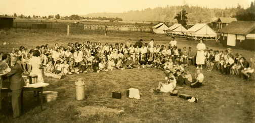 Picnic at Camp Alexandra in the 1920s