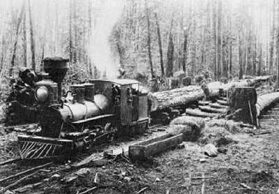 Logging locomotive Curley