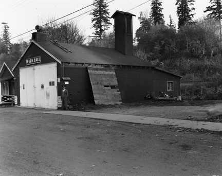 The first Crescent Beach Fire Hall