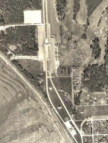 Aerial photo was taken in 1964