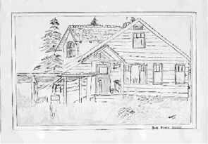 1958 sketch of home