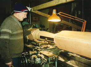 John at his lathe