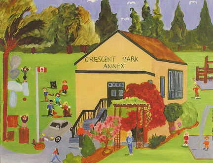 A painting of Crescent Park Annex