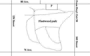 Map of Fleetwood Park