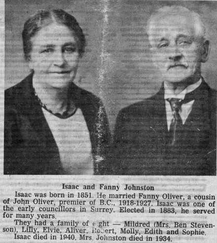 Isaac and Fanny Johnston