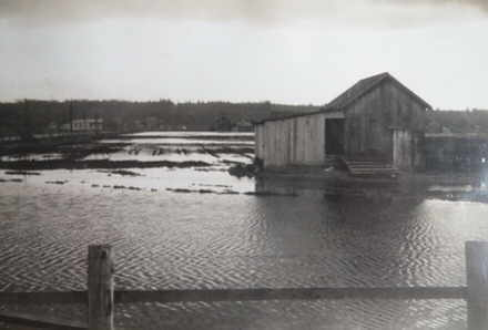 Keery barn is spring flood