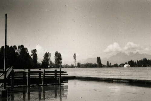 Port Kells dock during Fraser River Flood