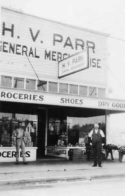H. V. Parr General Store in Cloverdale