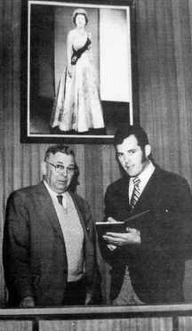 Ted Molyneux and Mayor William Vander Zalm