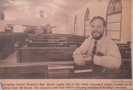 Rev. Lister in renovated church