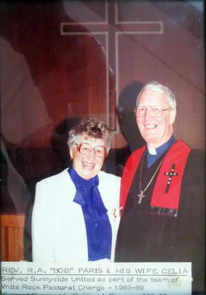 Rev. Bob Faris and his wife Celia.