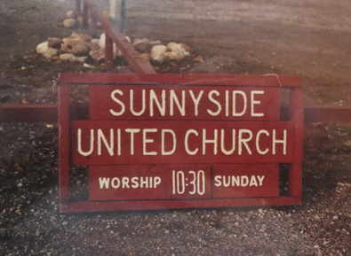 Sunnyside United street sign