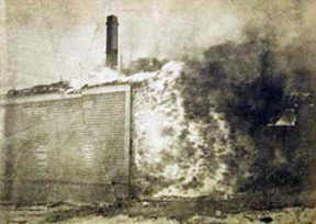 The School in flames