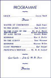 The 1956 graduation program
