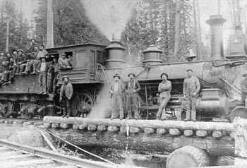 Logging locomotive
