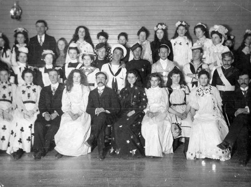 Participants at costume ball