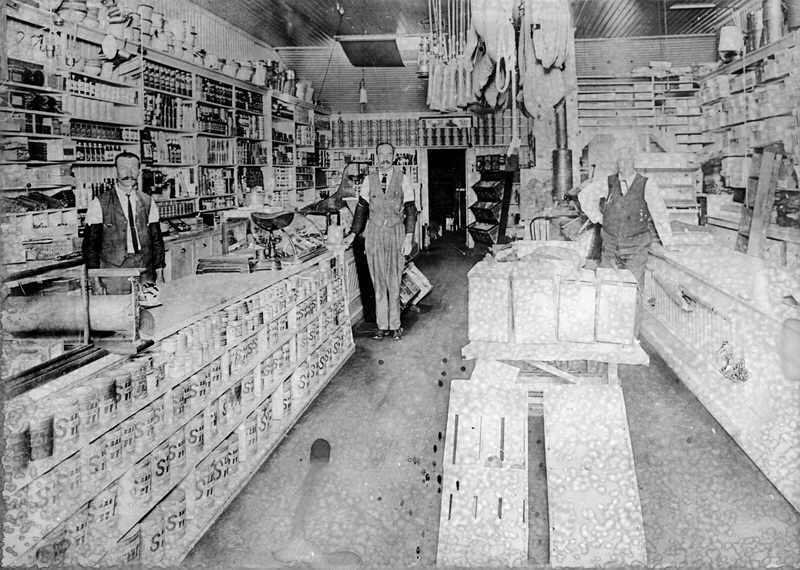 Interior of Burrows Store