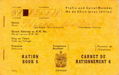 World War II ration book