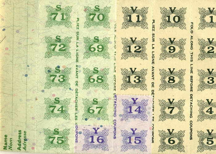 Ration book pages