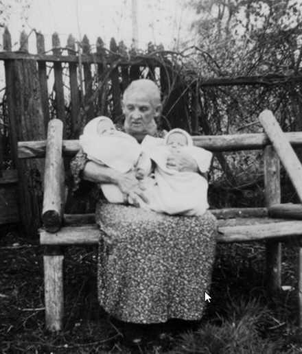 Grannie with  Betty Coles twins Jean and John