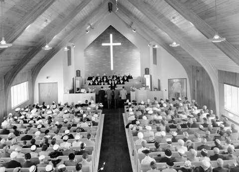 Easter service 1958