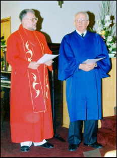 Rev. George Searcy and Rev Norm Pettersson